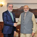 CEO of Afghanistan calls on the Narendra Modi, in New Delhi