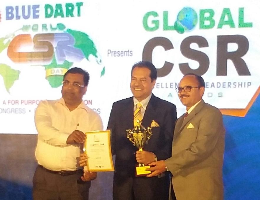 SJVN awarded the Blue Dart –Global CSR Excellence Leadership Awards