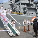 Indian warships on visit to Port Louis, Mauritius