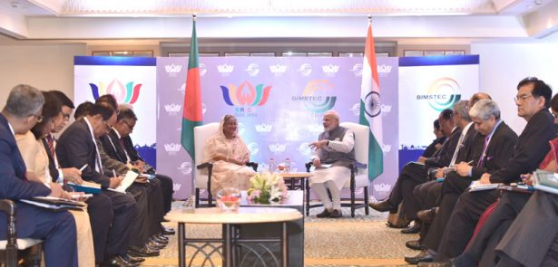 The Prime Minister, Shri Narendra Modi holding bilateral meeting with the Prime Minister of Bangladesh, Ms. Sheikh Hasina, on the sidelines of BRICS-BIMSTEC outreach summit, in Goa on October 16, 2016.