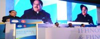 The Union Minister for Health & Family Welfare, Shri J.P. Nadda addressing at the inauguration of the International Conference of 'International Federation of Head-Neck Oncologic Societies (IFHNOS)', in New Delhi on October 12, 2016.
