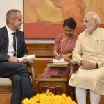 Chairman & CEO of Schneider Electric,  Jean-Pascal Tricoire calls on Narendra Modi