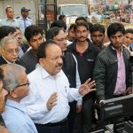 The Union Minister for Science & Technology and Earth Sciences, Dr. Harsh Vardhan briefing the media after installation of the Surya Jyoti (Micro Solar Dome), at Lalbagh clusters, in New Delhi on November 10, 2016.