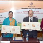 """The Minister of State for Health & Family Welfare, Smt. Anupriya Patel releasing a Special Cover on freedom fighter """"Shri Gaya Prasad Katiyar"""" at a function, in New Delhi on December 26, 2016."""