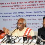 The Minister of State for Labour and Employment (Independent Charge), Shri Bandaru Dattatreya addressing a press conference on the Regional Labour Conference of North-Eastern Region, in Guwahati on January 05, 2017.