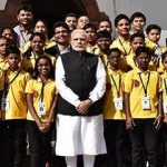 PM with a group of underprivileged students