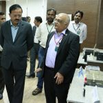 The Minister of State for Defence, Shri Subhash Ramrao Bhamre being briefed by the Director, Research Centre Imarat (RCI), Shri B.H.V.S. Narayana Murthy about various Avionics Technologies, during his visit to Dr. A.P.J. Abdul Kalam Missile Complex, Hyderabad on January 05, 2017.