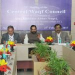 The Minister of State for Minority Affairs (Independent Charge) and Parliamentary Affairs, Shri Mukhtar Abbas Naqvi addressing the 75th meeting of Central Waqf Council, in New Delhi on February 27, 2017.