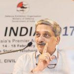 Manohar Parrikar at the Aero India air -indin Bureaucracy