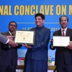 The Minister of State for Power, Coal, New and Renewable Energy and Mines (Independent Charge), Shri Piyush Goyal at the concluding session of the 2nd National Conclave on Mines & Minerals, in New Delhi on February 15, 2017. 	The Secretary, Ministry of Mines, Shri Balvinder Kumar and other dignitaries are also seen.