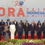 The Vice President, Shri M. Hamid Ansari at the opening ceremony of the 20th Indian Ocean Rim Association Leaders' Summit, in Jakarta, Indonesia on March 07, 2017. The President of Indonesia, Mr. Joko Widodo and other leaders are also seen.