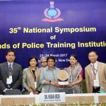 The Lt. Governor of Puducherry, Dr. Kiran Bedi at the 35th National Symposium of Heads of Police Training Institutions, in New Delhi on March 23, 2017.