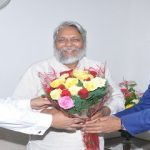 Rajendra Singh Waterman of India addresses NTPC Employees
