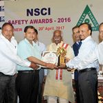 The Minister of State for Labour and Employment (Independent Charge), Shri Bandaru Dattatreya presented the NSCI Safety Awards 2016, at a function, in New Delhi on April 20, 2017. 	The Chairman of National Safety Council Shri Satish Reddy is also seen.
