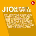 Jio Summer Surprise plan-indianBureaucracy