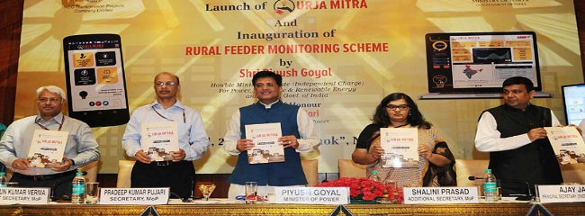 The Minister of State for Power, Coal, New and Renewable Energy and Mines (Independent Charge), Shri Piyush Goyal launching the 'Urja Mitra', at a function, in New Delhi on April 11, 2017. The Secretary, Ministry of Power, Shri P.K. Pujari and other dignitaries are also seen.