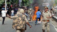 anti riot policemen