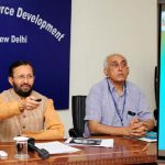The Union Minister for Human Resource Development, Shri Prakash Javadekar launching the Anti ragging Mobile Application for Students, in New Delhi on May 29, 2017.   The Secretary, Department of Higher Education, Shri Kewal Kumar Sharma is also seen.