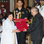 The President, Shri Pranab Mukherjee presenting the National Florence Nightingale Awards to Smt. Urmila Guleria, Nursing Sister, IGMC & Hospital, Shimla, on the occasion of the International Nurses Day, at Rashtrapati Bhavan, in New Delhi on May 12, 2017.