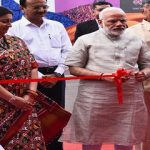 Modi inaugurating the Textiles India 2017 Exhibition