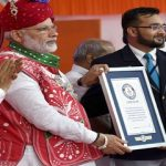 Modi presented certificate of Guiness World Records