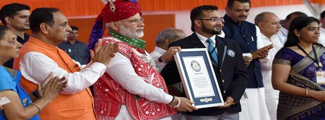 Modi presented certificat