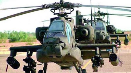 6 Apache attack helicopters