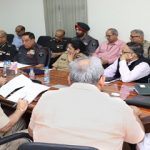 Meeting on status of Border Area Projects