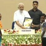 PM Modi presents swacchhta awards