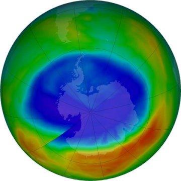ozone hole smallest