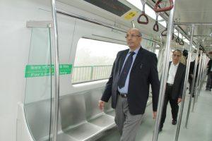 DMRC MD inspects