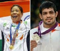 Sushil Kumar and Mary Kom