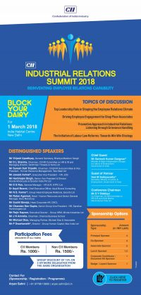 CII Industrial Relations Summit 2018