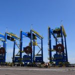 Electrical Rubber Tyred Gantry cranes (e-RTGC)