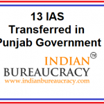 13 IAS transferred in Punjab Govt