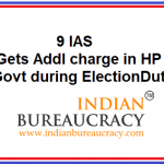 9 IAS gets Additional charge in HP Govt