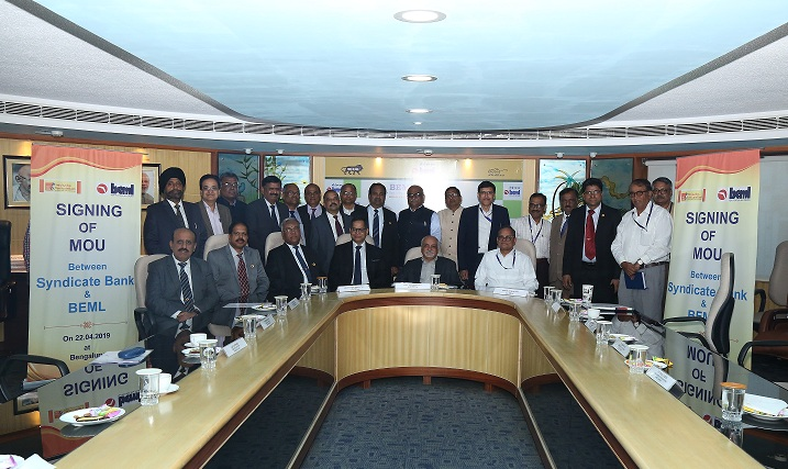 BEML MoU with Syndicate Bank