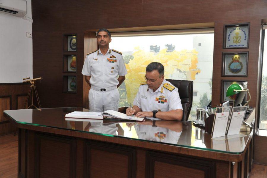 Rear Admiral Rajesh Pendharkar, takes over as Flag Officer Commanding Maharashtra Naval Area