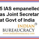 5 IAS Officers empanelled as Joint Secretary with GoI