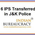 6 IPS transfers in Jammu & Kashmir Police