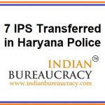 7 IPS Transfers in Haryana police