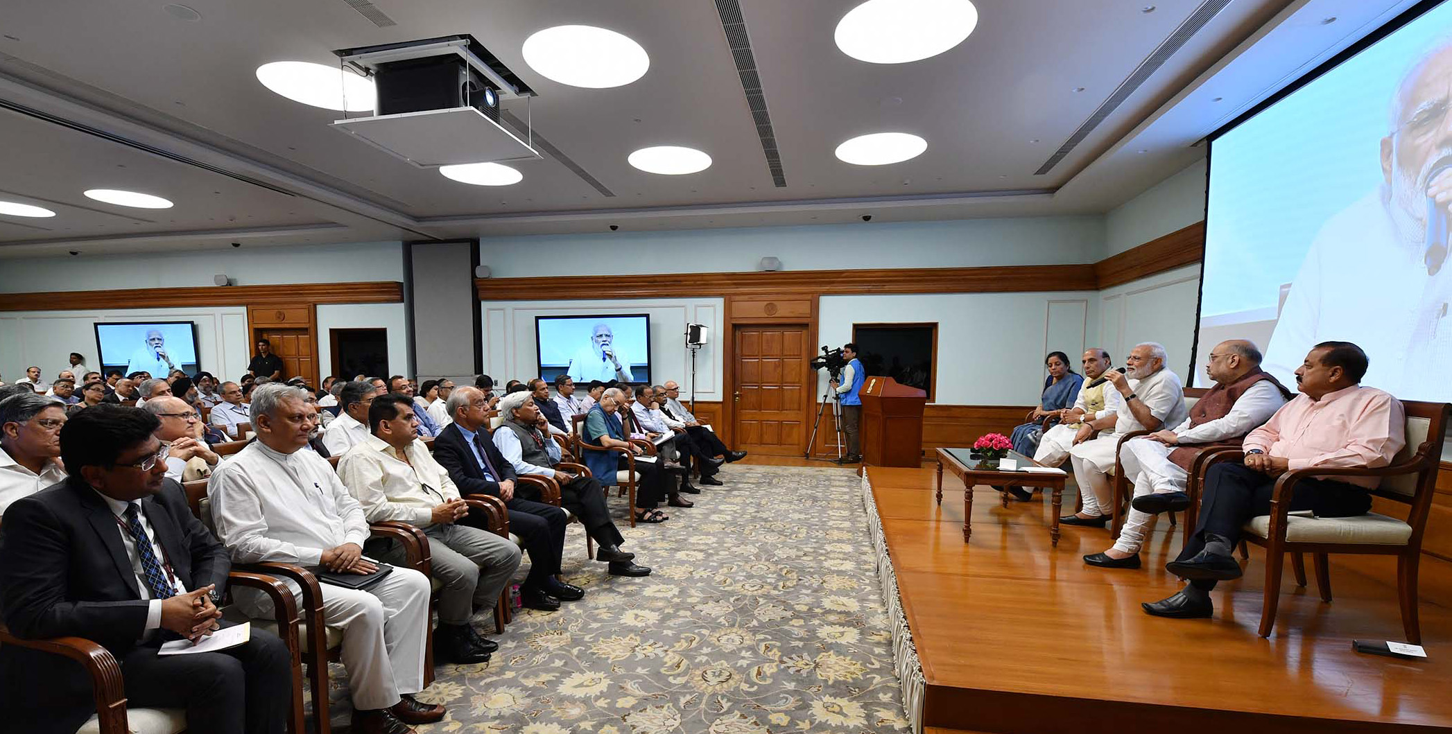 arendra Modi interacting with the Secretaries to the Government of India