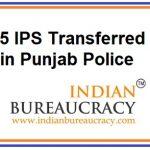 25 IPS Transfers i Punjab Police