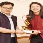 Kiren Rijiju gave Arjuna Awards to Smriti Mandhana and Rohan Bopanna