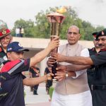 Raksha Mantri Lights Victory Flame to Mark 20 Years of Kargil War