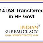 14 IAS transfers in HP Govt