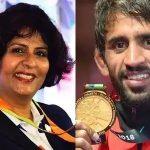 Bajrang Punia and Deepa Malik Rajiv Gandhi Khel Ratna Award