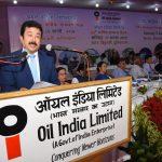 CMD, OIL Utpal Bora addressing during OIL's 60th AGM