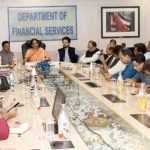 Finance Minister meets Bankers and reviews the Bank performance