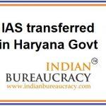 Haryana IAS Transfers